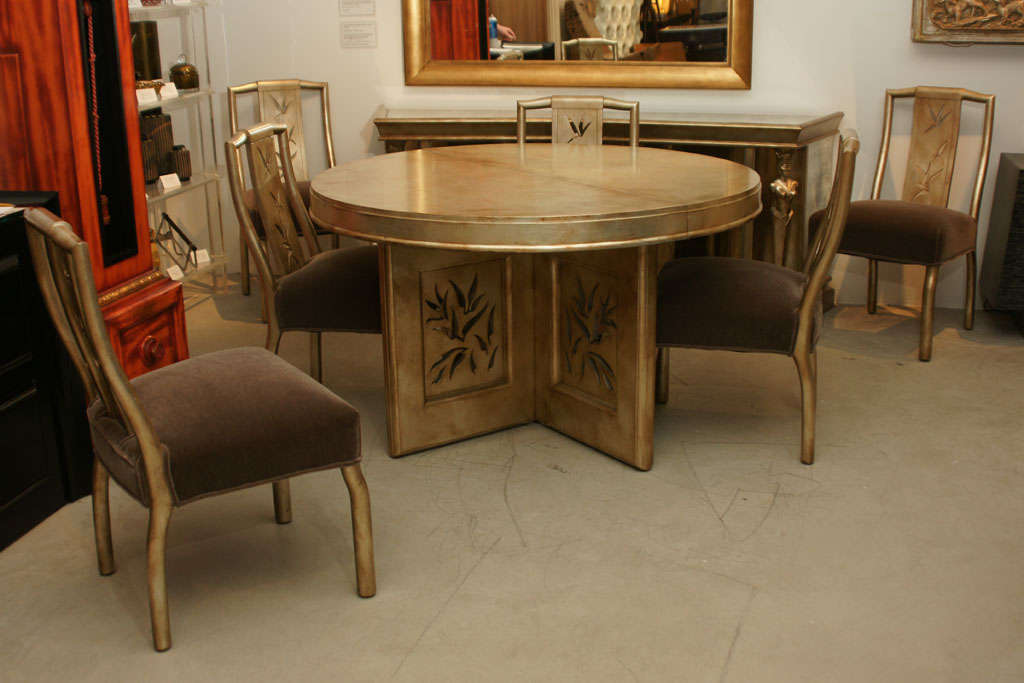 Beautiful james mont dining set at 1stdibs for Beautiful dinette sets