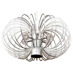 Chromed Metal Chandelier By Gaetano Sciolari For Lightolier