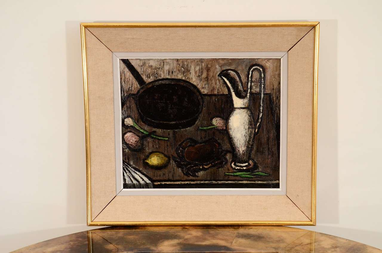 Framed Still Life Oil Painting by A. Duranton 2