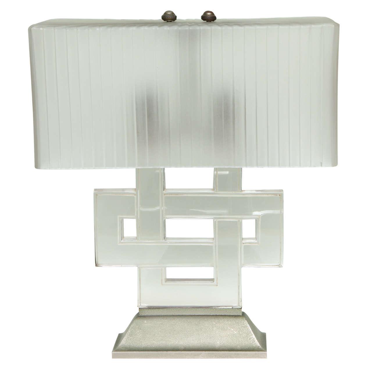 Art deco table lamp entrelacs by rene lalique for sale at 1stdibs art deco table lamp entrelacs by rene geotapseo Images