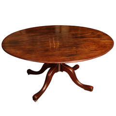 Antique George III Oval Mahogany Breakfast Table, English c.1780