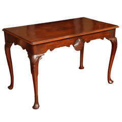 Antique Irish Carved Solid Mahogany Console Table, circa 1750