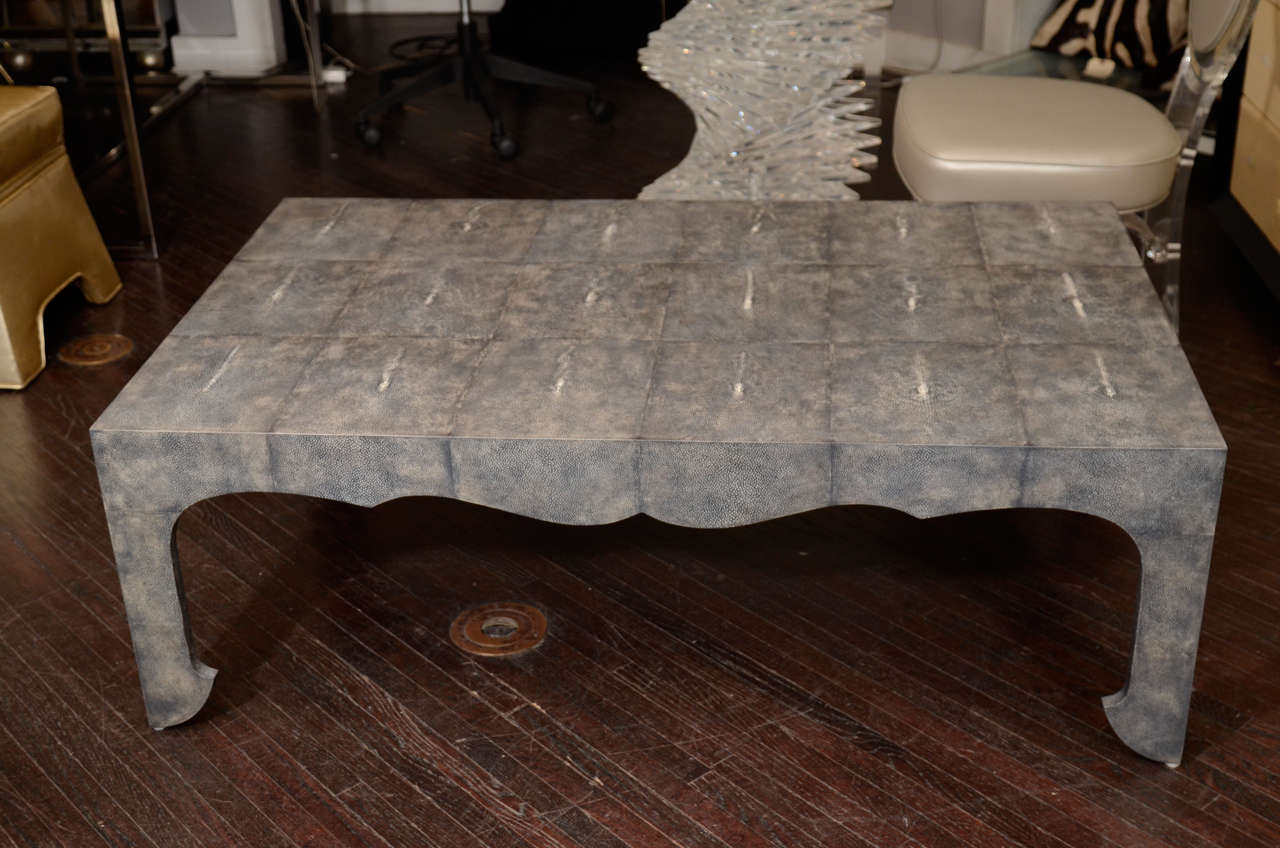 Chinoiserie shagreen coffee table for sale at 1stdibs chinoiserie shagreen coffee table 2 geotapseo Gallery