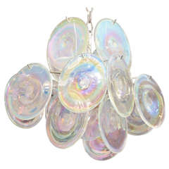 1970's Opalescent Vistosi Disc Fixture