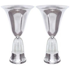 Pair of Art Deco Torchiere Table Lamps