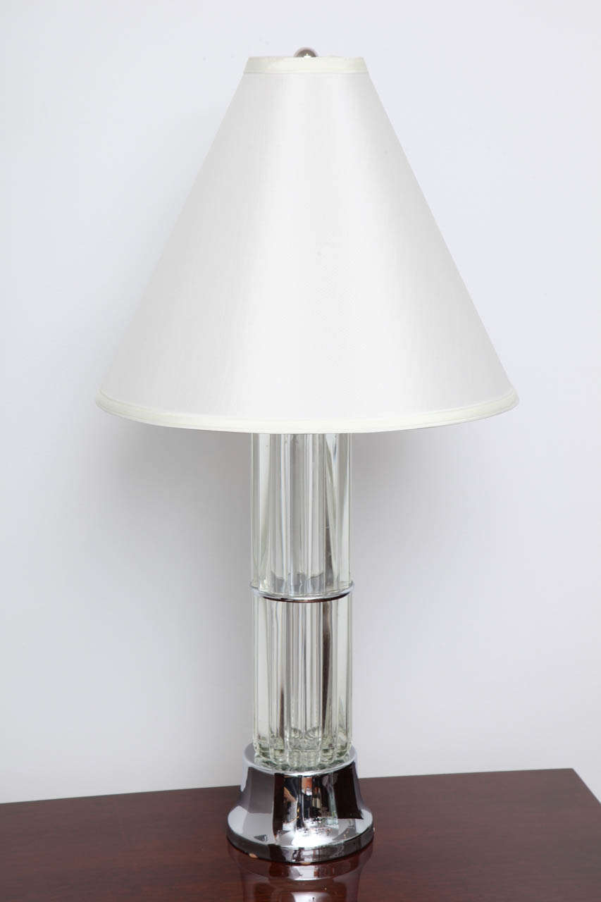 Art Deco Tall Table Lamp with Glass Elements For Sale at ...