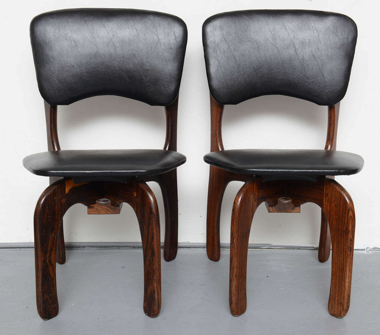 Beautiful set of original Don Shoemaker chairs from Mexican rosewood, 1971.