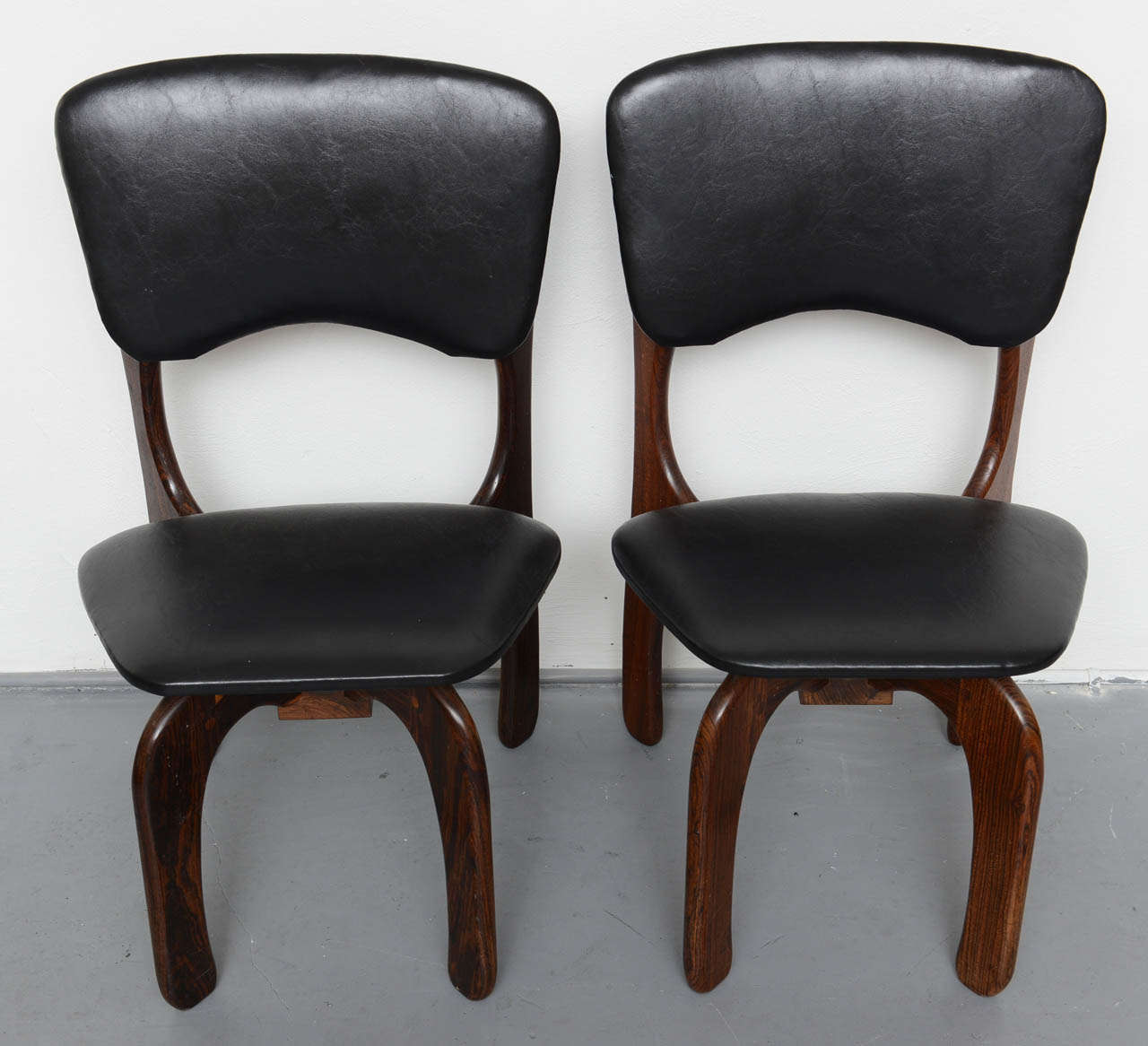 Mid-Century Modern 1970s Rosewood Chairs by Don Shoemaker, Mexico For Sale