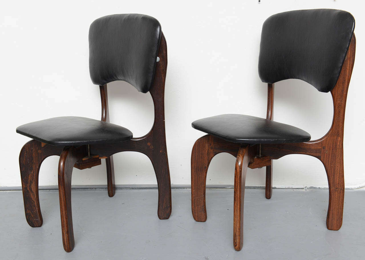 Mexican 1970s Rosewood Chairs by Don Shoemaker, Mexico For Sale