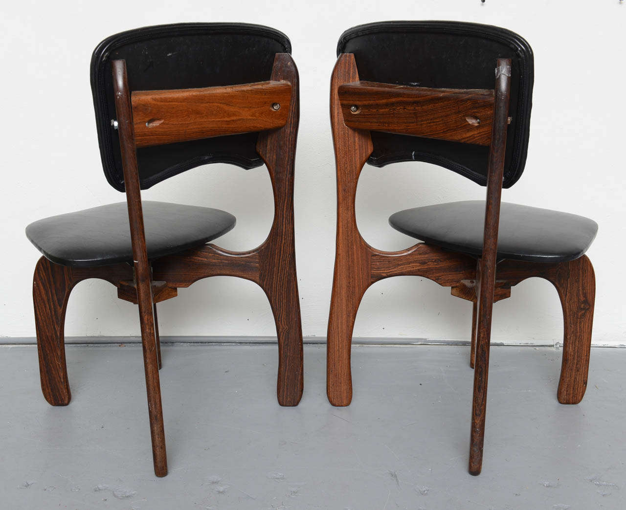 Late 20th Century 1970s Rosewood Chairs by Don Shoemaker, Mexico For Sale