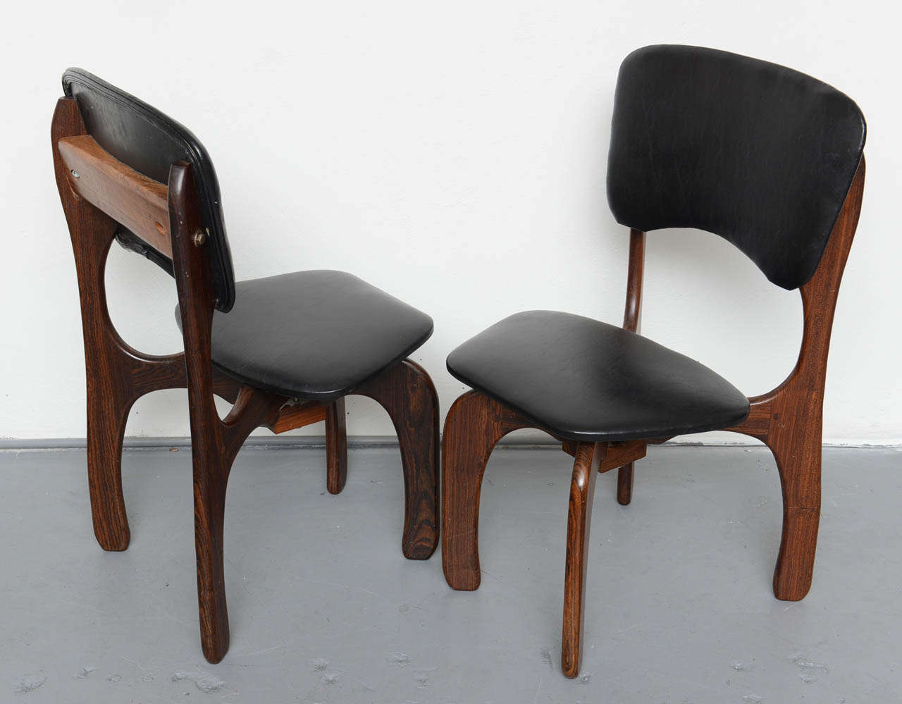 1970s Rosewood Chairs by Don Shoemaker, Mexico For Sale 2