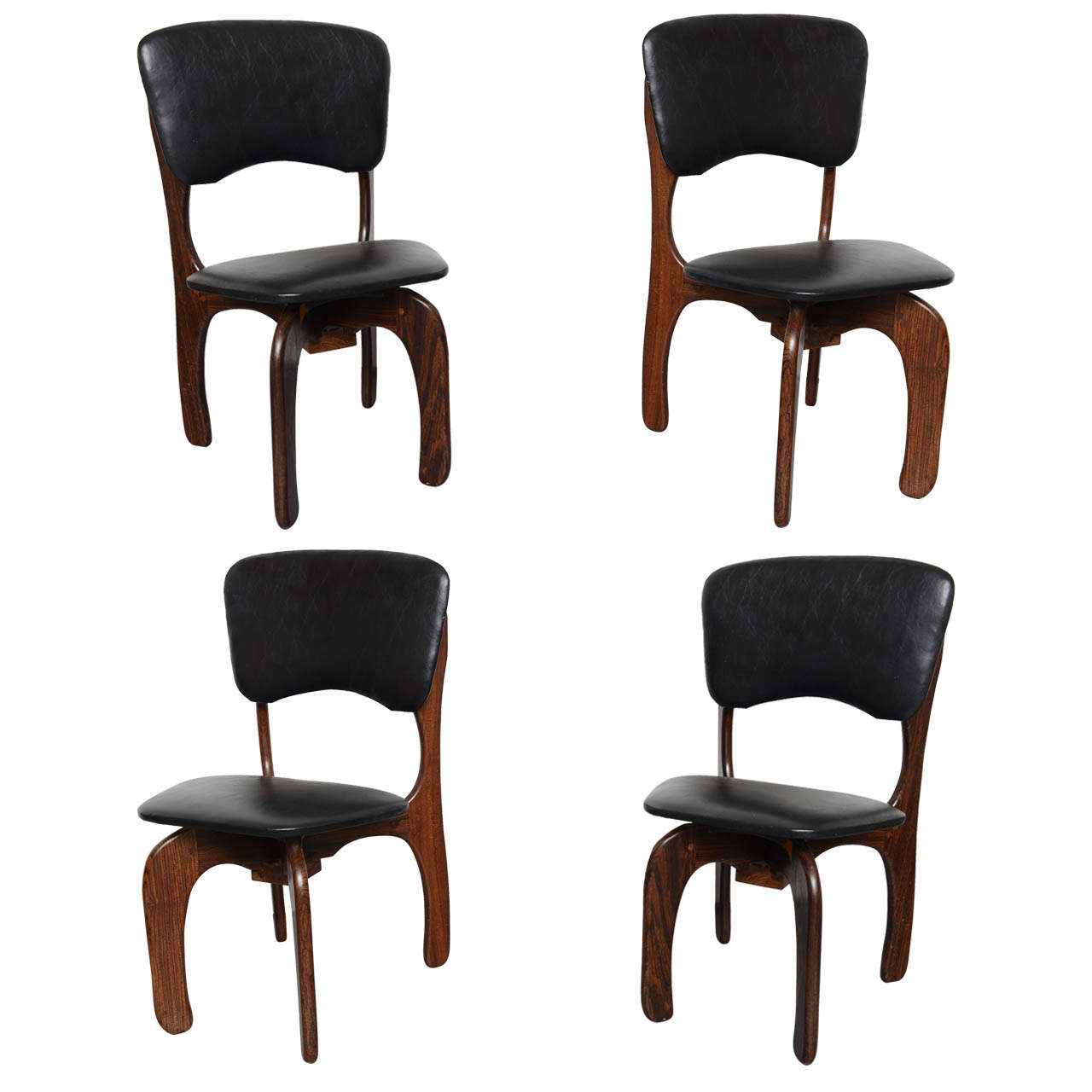 1970s Rosewood Chairs by Don Shoemaker, Mexico 1