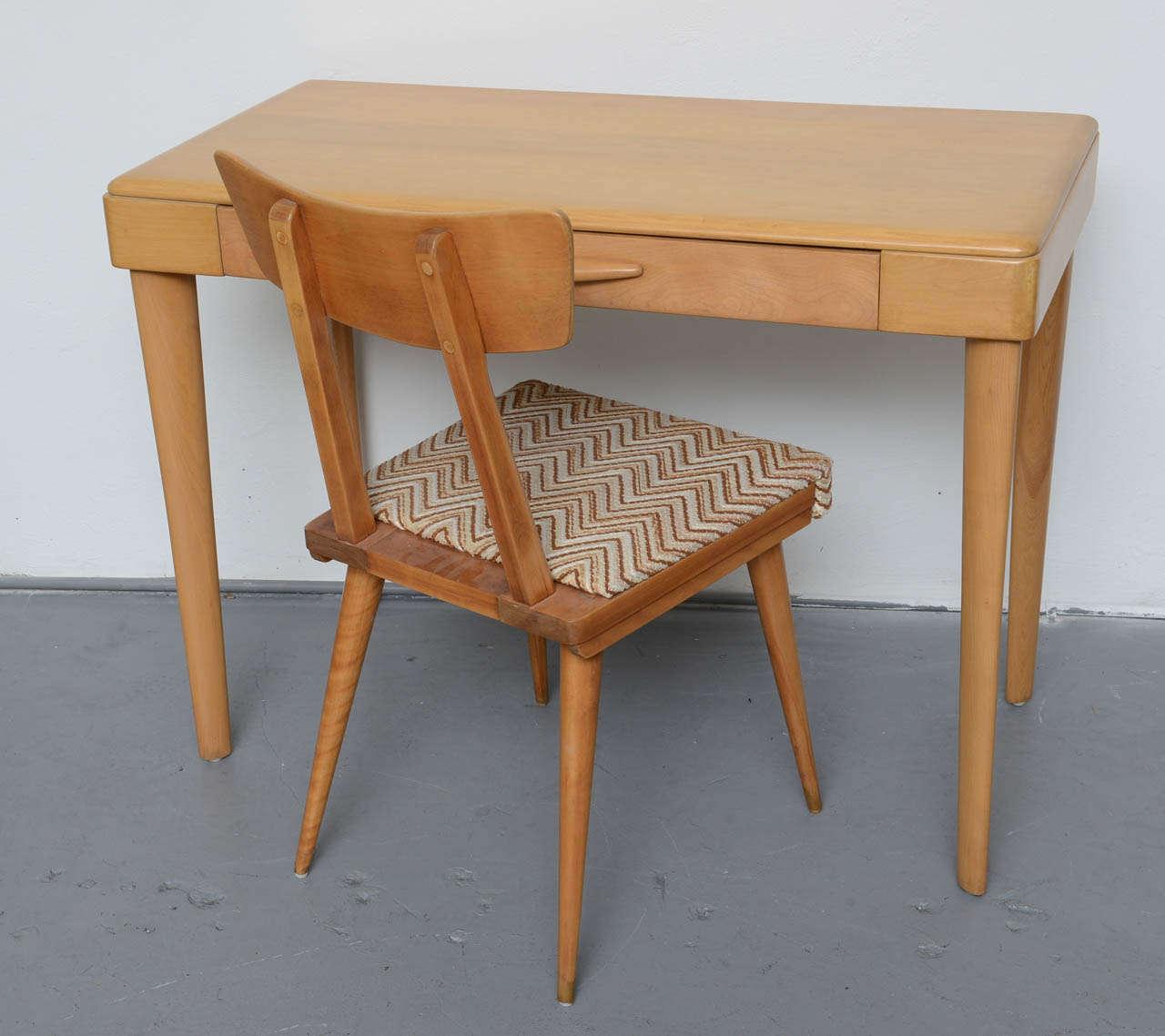 heywood wakefield maple desk schair sold desk comes solo for  - heywood wakefield maple desk schair sold desk comes solo