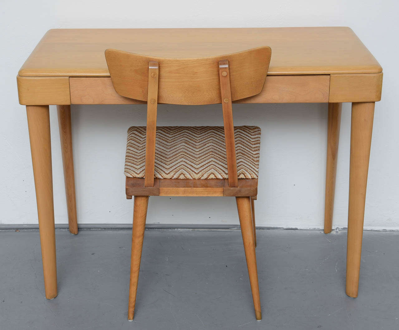 Heywood Wakefield Maple Desk 1960s Chair sold Desk es