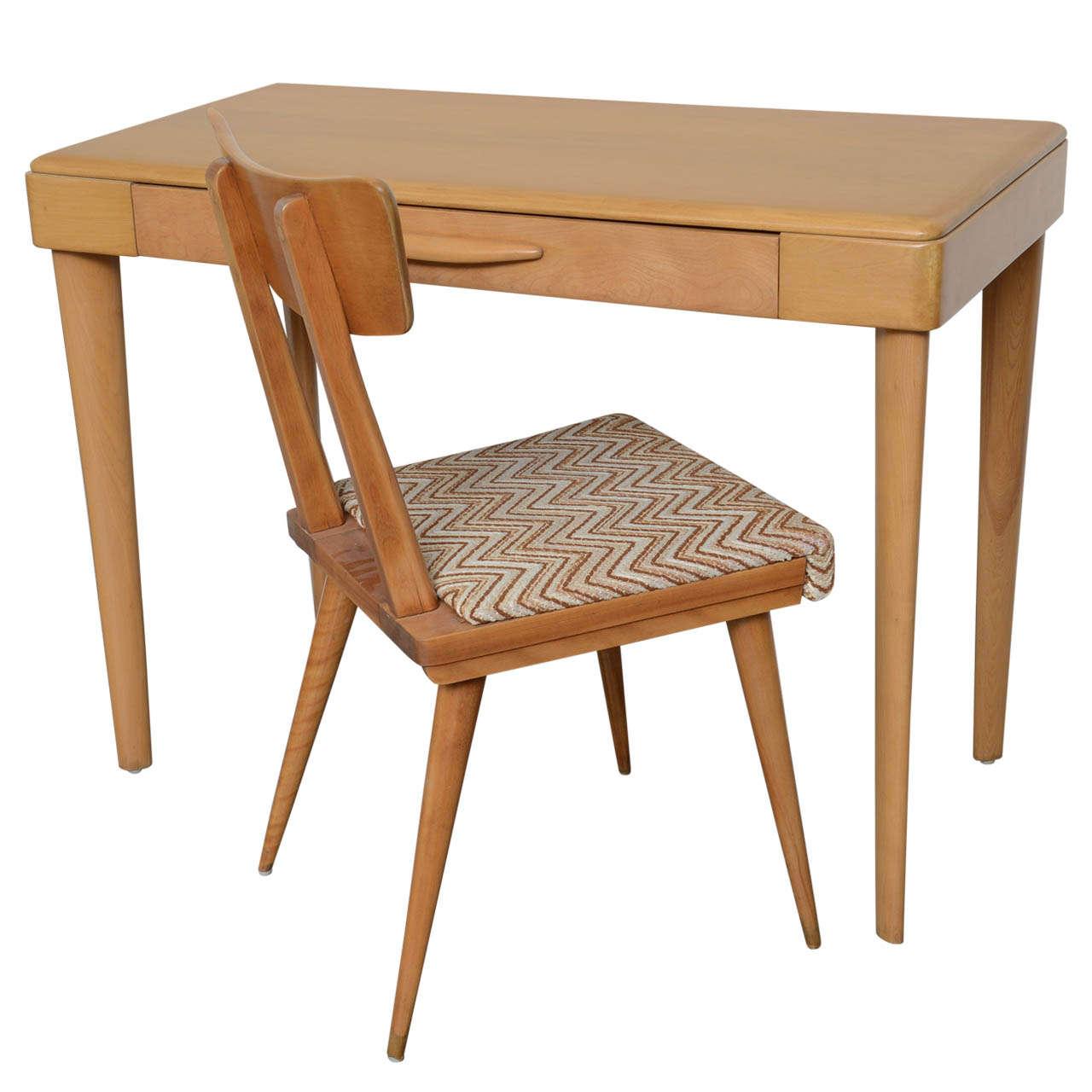Heywood Wakefield Maple Desk 1960s  Chair Sold Desk Comes Solo 1