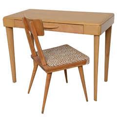 Heywood Wakefield Maple Desk 1960s--Chair sold Desk comes solo