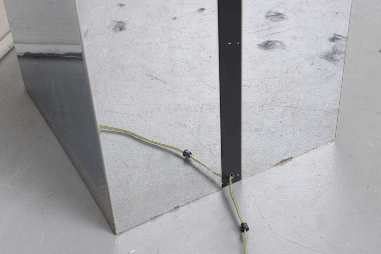 1970s Neal Small Chrome Double Side Magazine Rack With