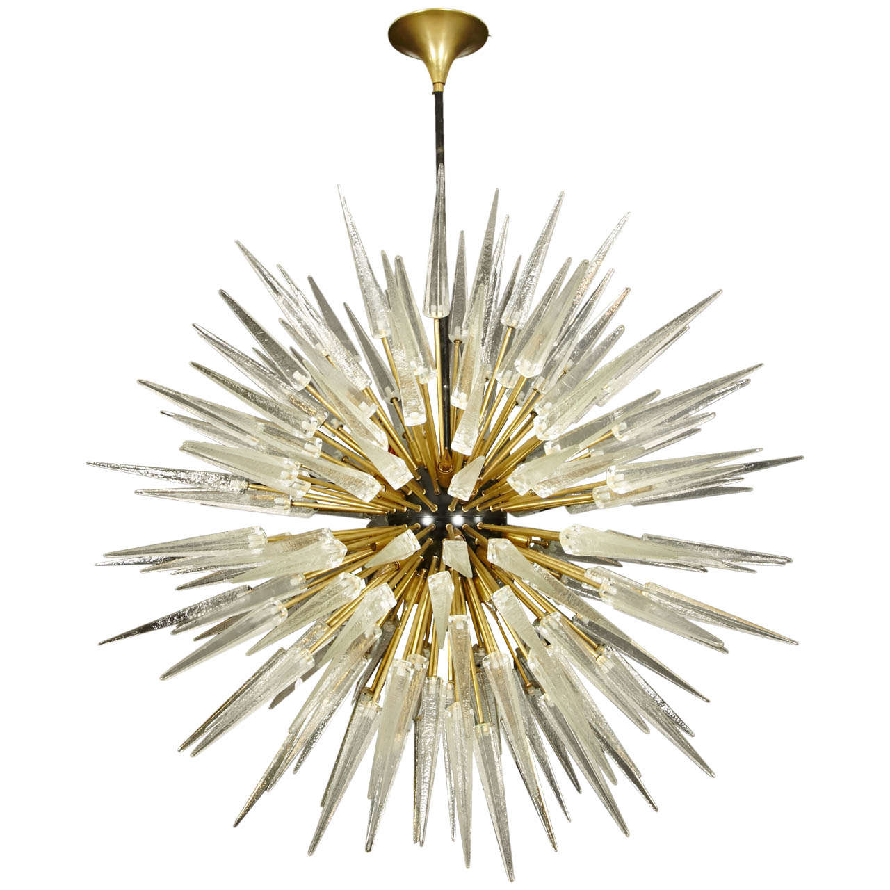 Pair of Murano Glass Chandeliers For Sale at 1stdibs