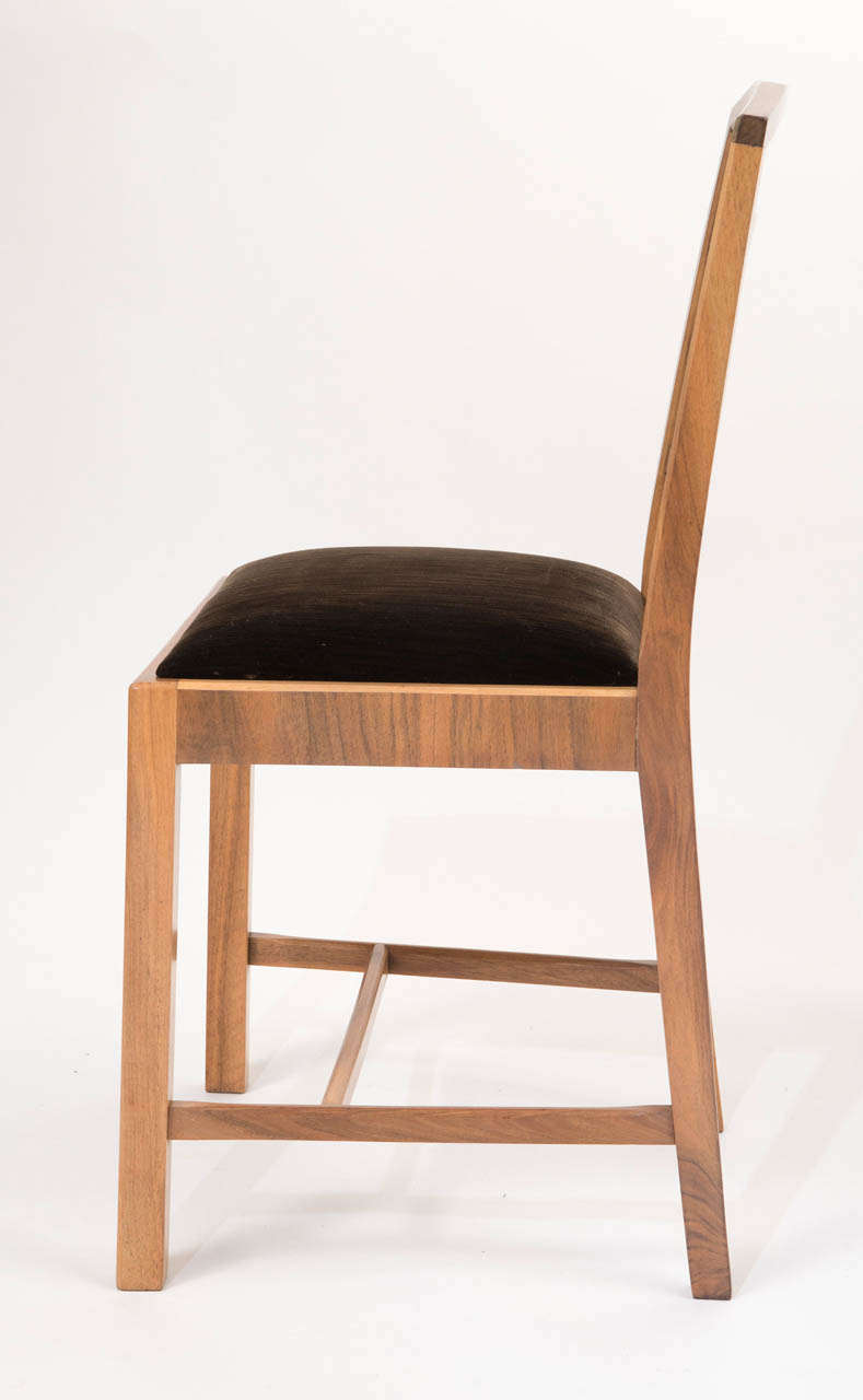 Set Of Six Art Deco Ladder Back Shaped Chairs By Heals Of London At 1stdibs