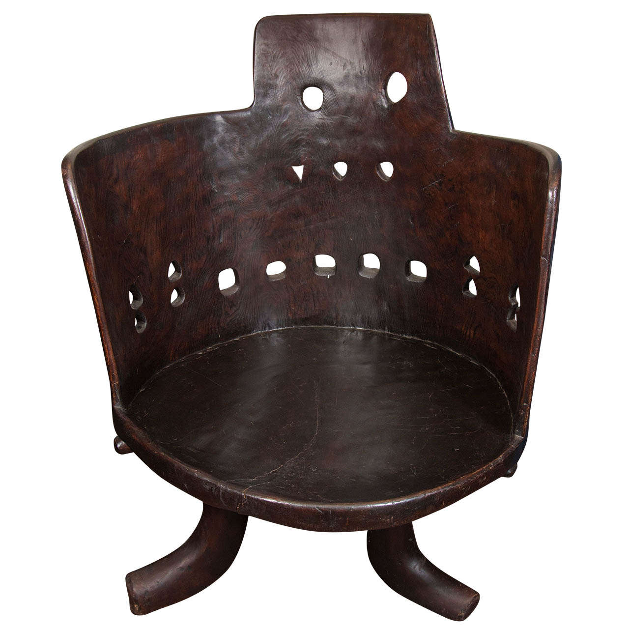 Italian Leather Furniture South Africa: Ethiopian Chief Chair At 1stdibs