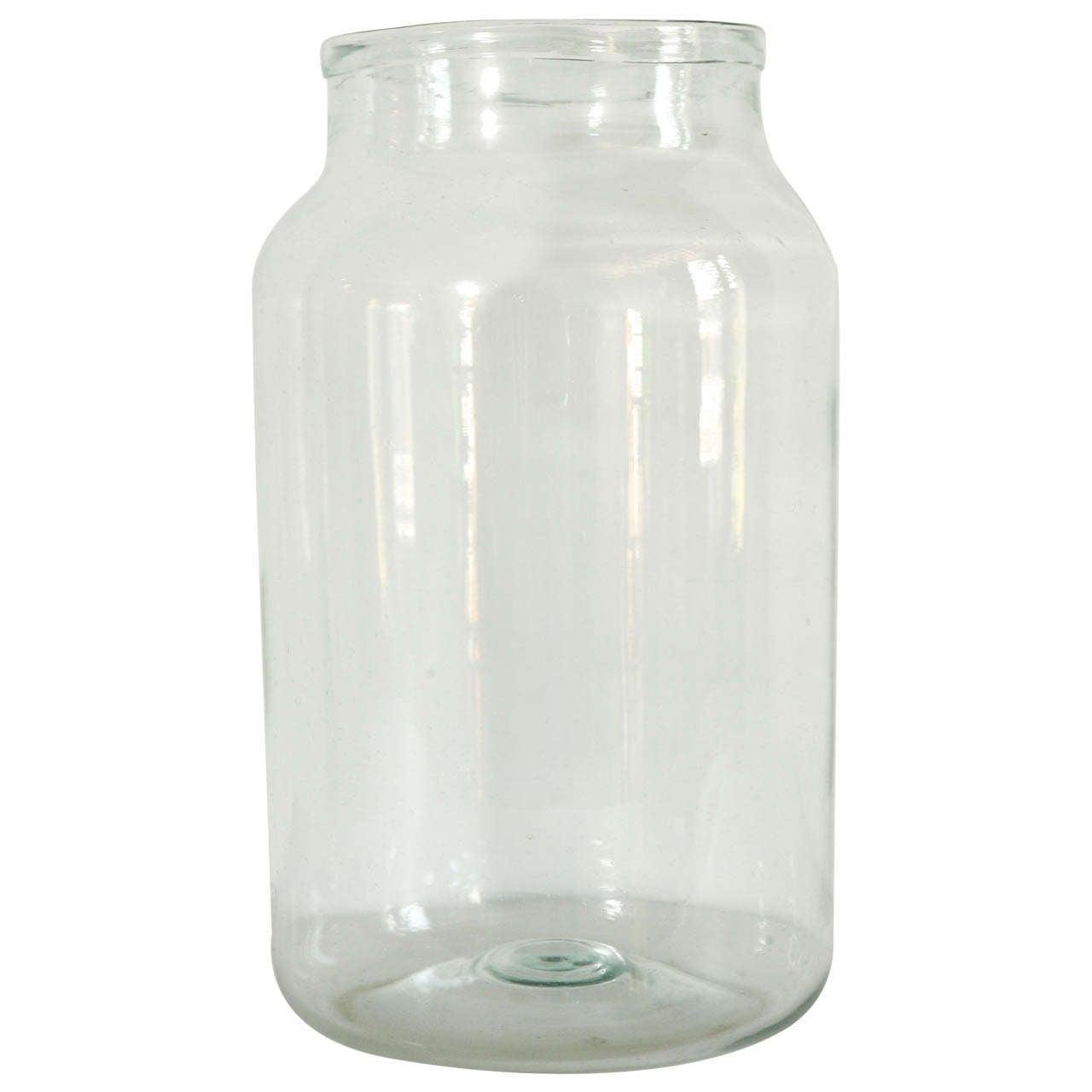 Italian hand blown glass jars clear at 1stdibs for Designer glass jars