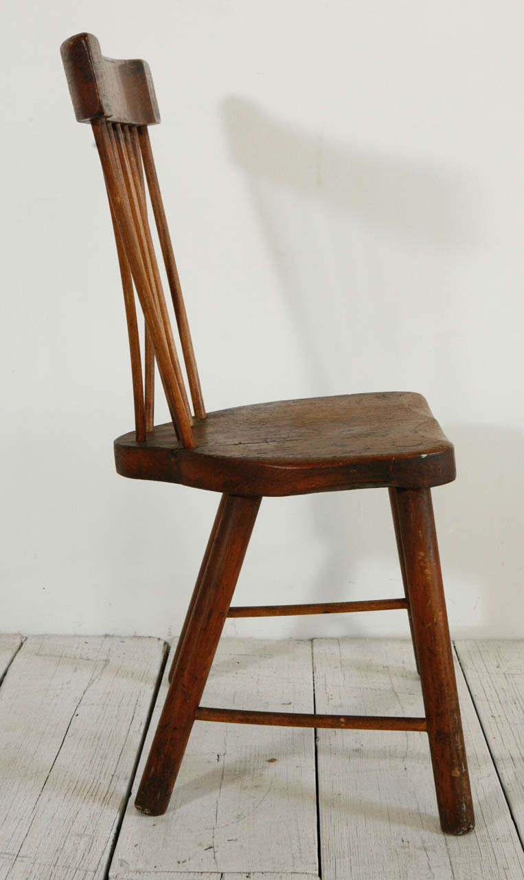 Early American Bent Spindle Back Windsor Chair At 1stdibs