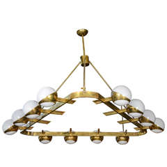 Unusual Triangle Chandelier in the Style of Stilnovo