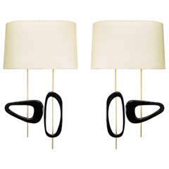 Beautiful Pair of 1950s Style Wall Sconces by Adriano Albini