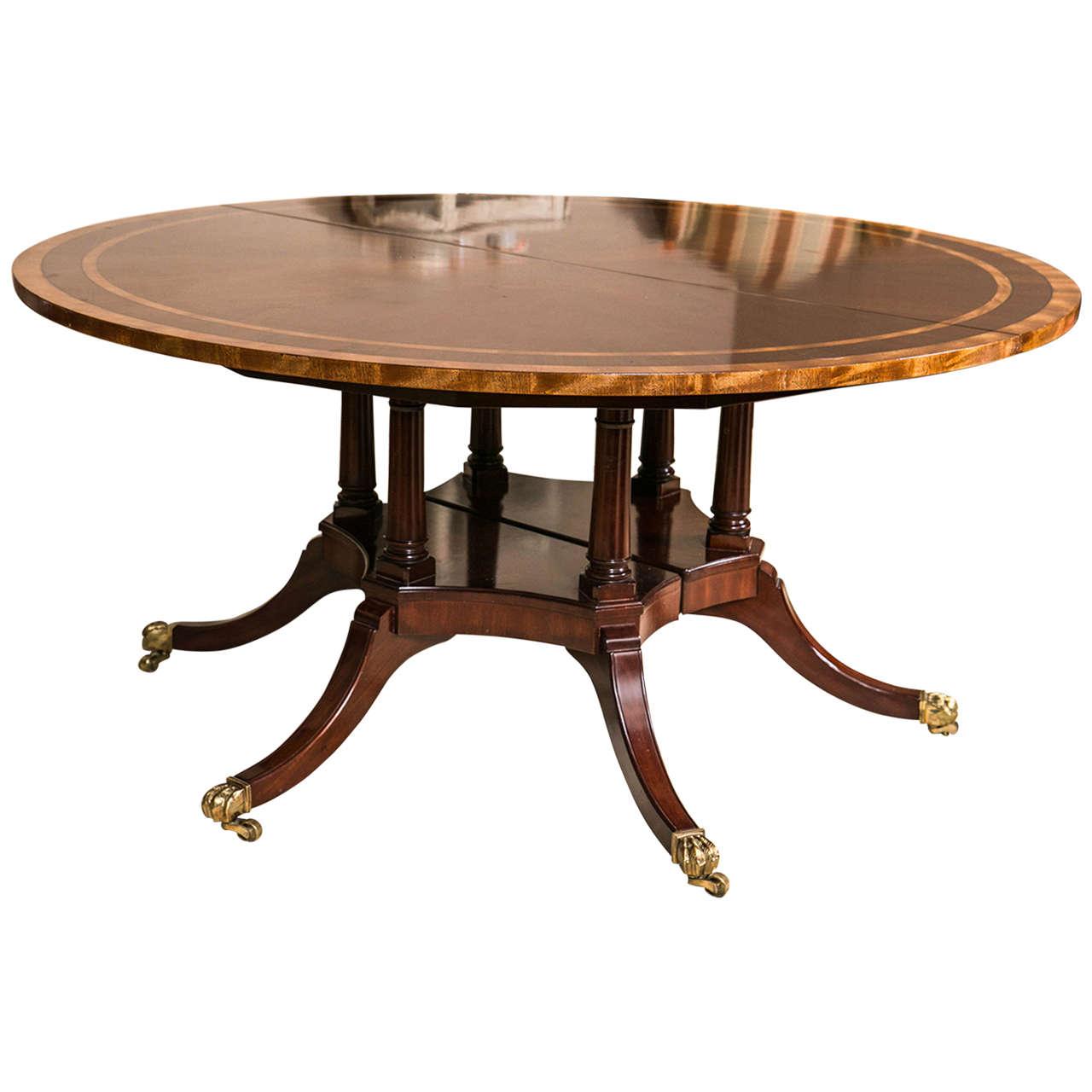 English Regency Style Mahogany Circular Dining Table At 1stdibs