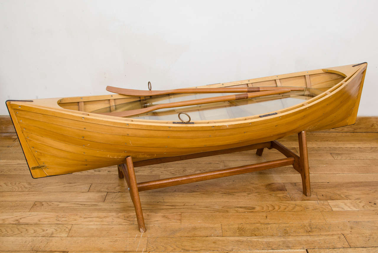 Wooden Boat Coffee Table For Sale at 1stdibs