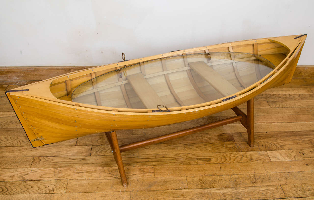Row boat coffee table plans ~ Feralda |Dinghy Coffee Table