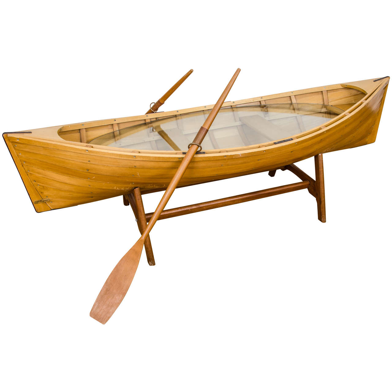 Wooden Boat Coffee Table At 1stdibs