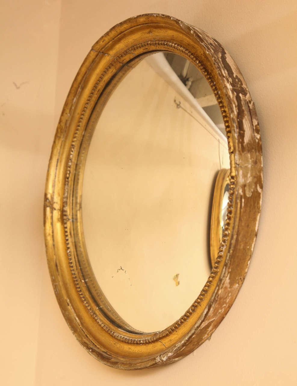 Late 19th Century English Convex Mirror For Sale 1