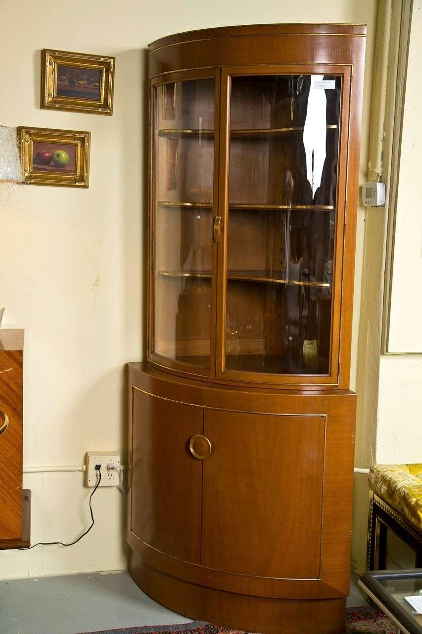 Beautiful A Fine Custom Quality Corner Cabinet By Grosfeld House. The Reverse Bearing  The Grosfeld House