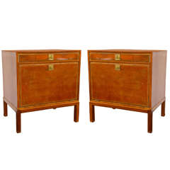 Pair of Parzinger for Charak Modern End Tables - Nightstands