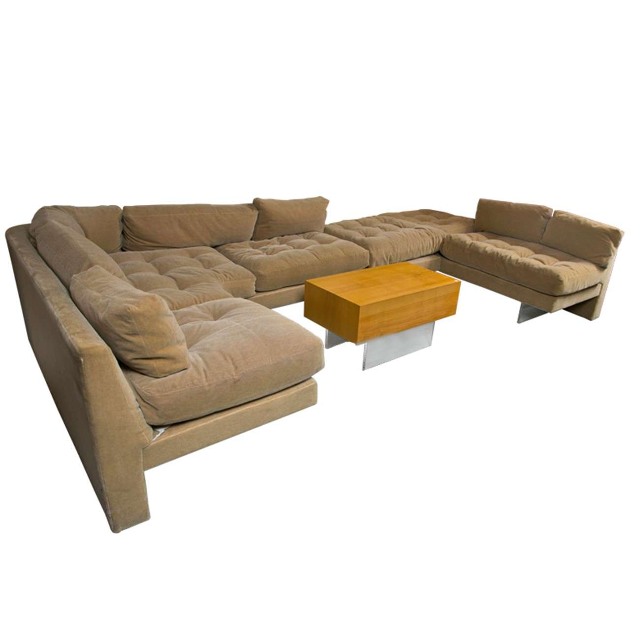 Mid Century Vladmimir Kagan Sectional Sofa And Coffee Table Set At 1stdibs