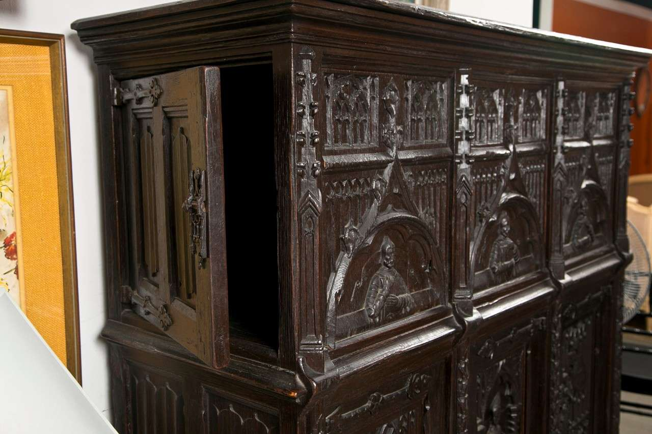 Neo Gothic Cabinet At 1stdibs