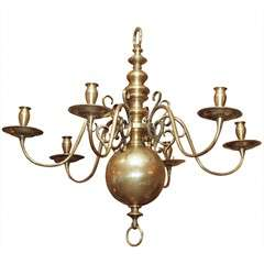 Dutch Brass Chandelier in the 17th Century Taste