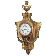 Fine 19th Century French Gilt Cartel Clock