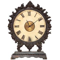 19th Century Continental Bronze Clock