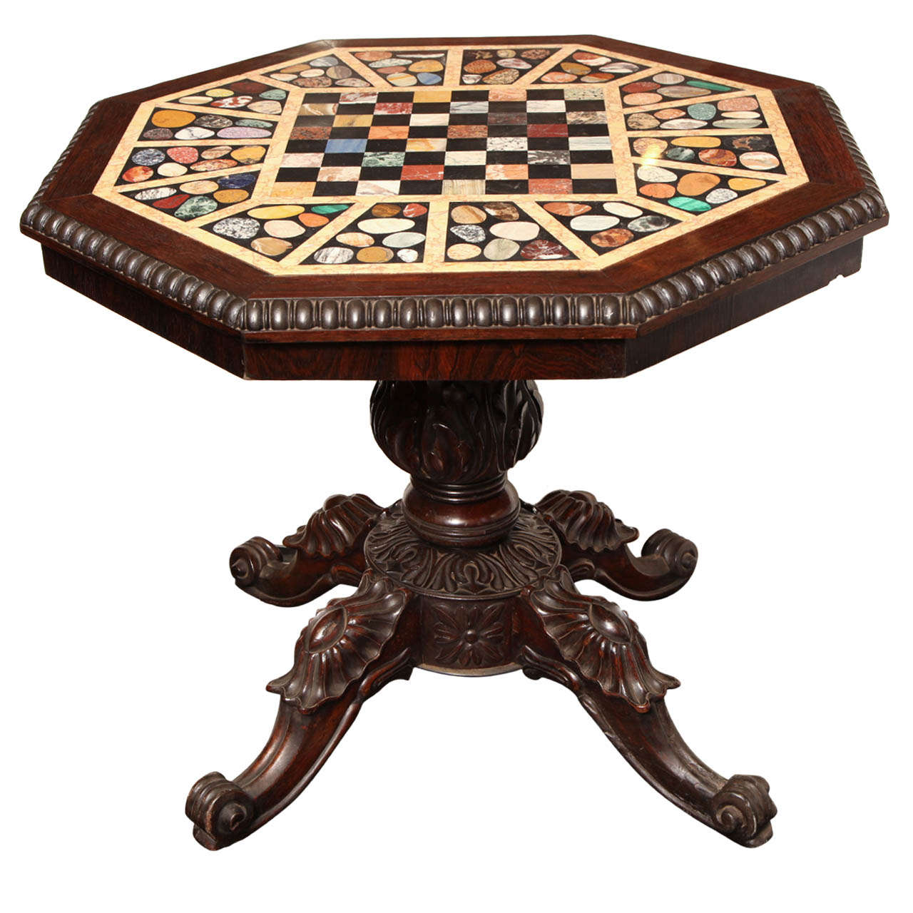 Mid 19th Century Specimen Marble Games Table