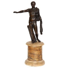 19th Century Bronze Figure on a Sienna Marble Socle