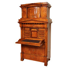 Northern European Birch Secretaire Abattant
