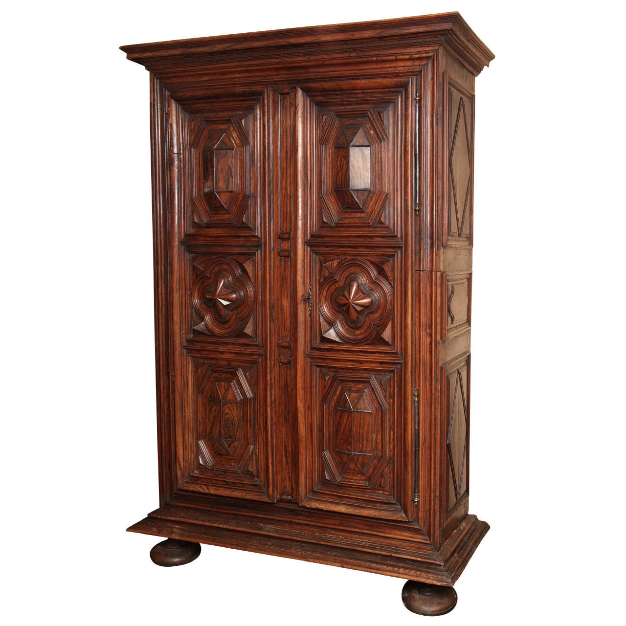 Late 18th Century French, Walnut and Simulated Walnut Armoire
