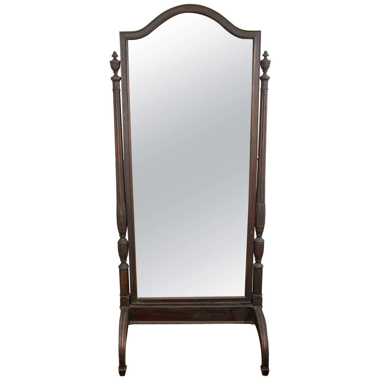 for Wood floor length mirror