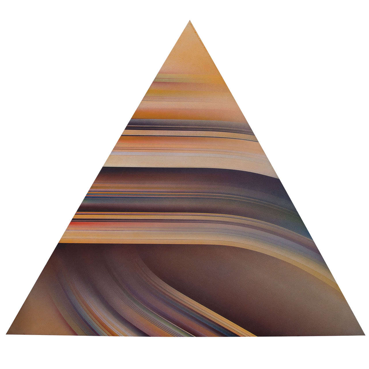 A Mid Century Triangular Painting by David Barry Lewis