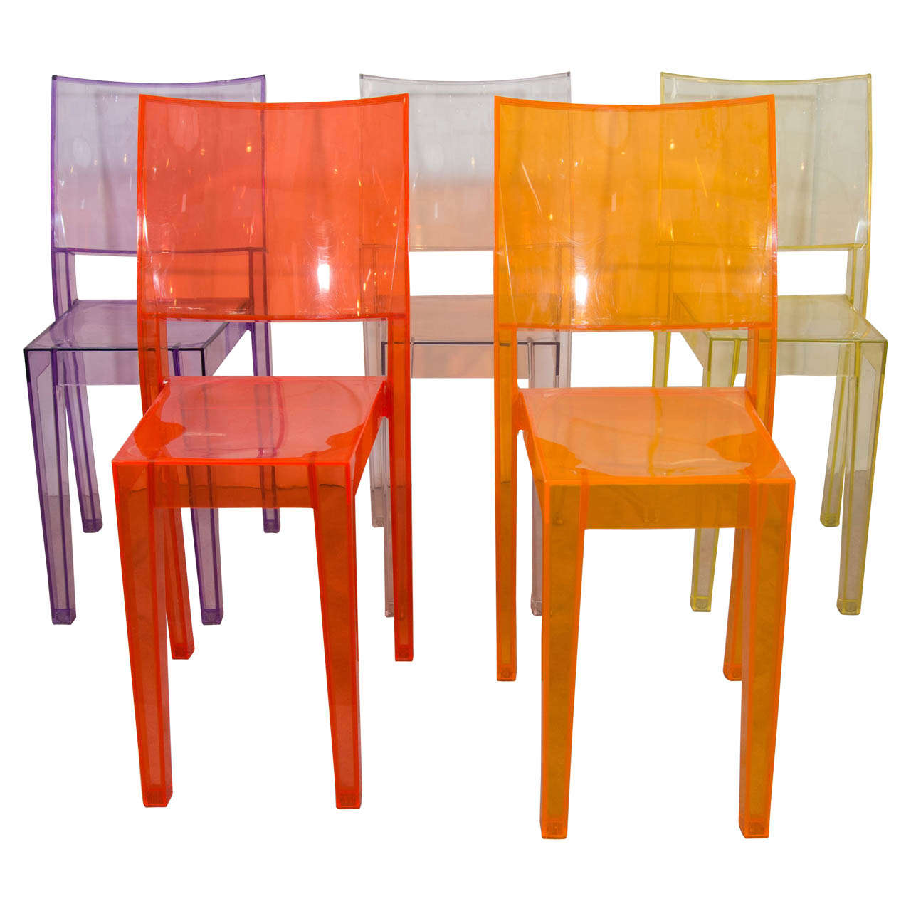 Three philippe starck la marie chairs for sale at 1stdibs for Chaise la marie starck