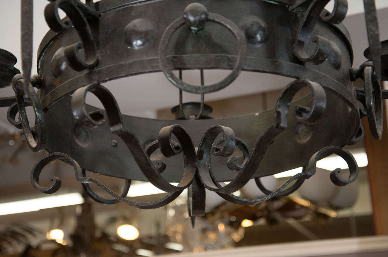 Antique Five-Light Iron Candelabra 7