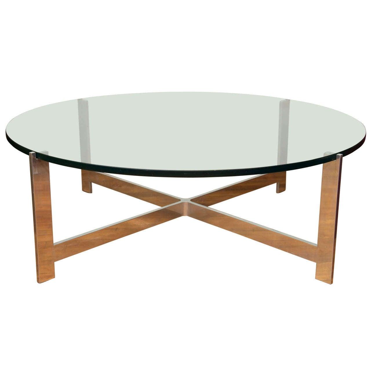 Baughman Round Chrome Base Coffee Table