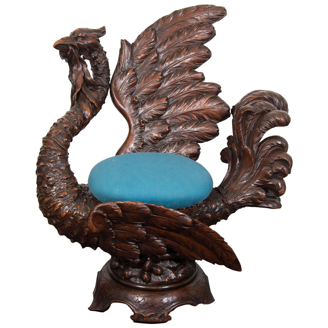 Merveilleux A 19th Century Hand Carved Griffin Italian Fantasy Chair For Sale